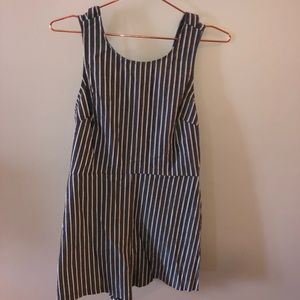 Other - Striped romper, open back